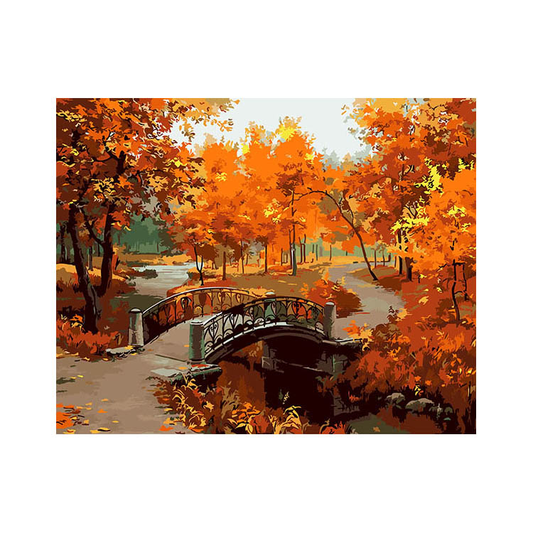 40*50cm DIY Painting By Numbers Kit Coloring Paint On Canvas Oil Painting Home Decor For Artwork