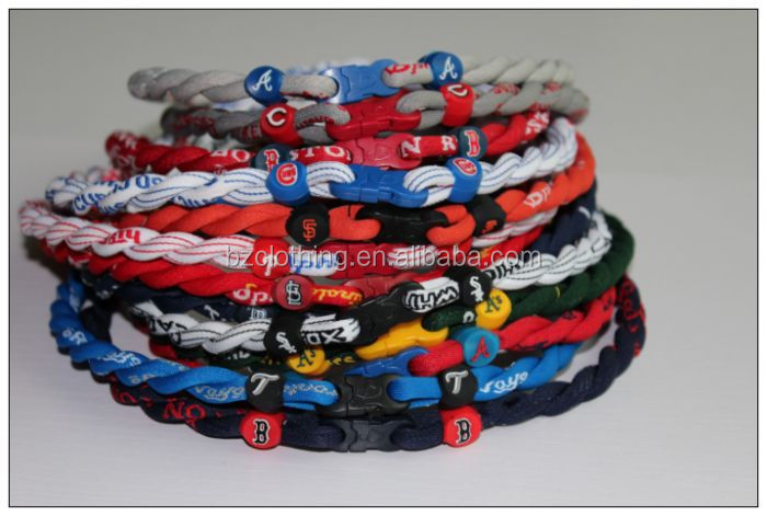 American Baseball Teams Double Rope Tornado Titanium Sports Necklaces