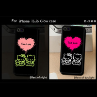 Hello Kitty Pattern Custom printed Gloss/Matte Cell Phone Cover for iphone 6 cases