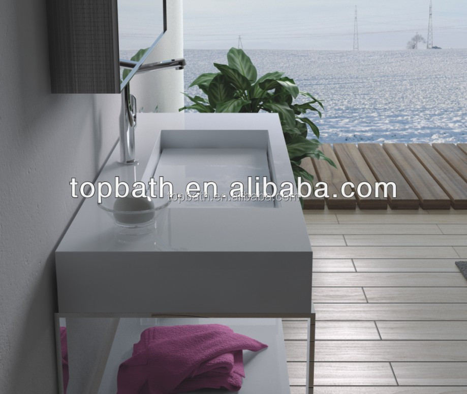 Popular high quality solid surface bathroom wall mounted washing basin PW15