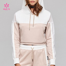 OEM Supply Cotton Polyester Women Oversized Crop Hoodie