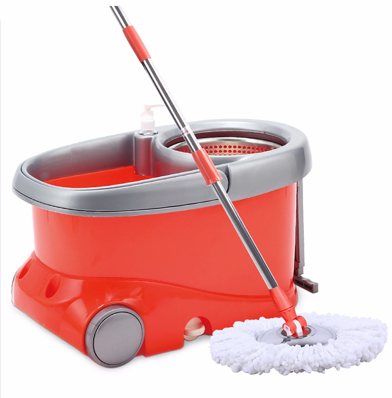 factory direct sales magic mop easy life magic mop 360 rotating magic mop mop bucket automatic drying double drive hand mop 360