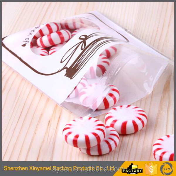 OPP Cute Cookie Bags Stand-Up Macaron Packaging Plastic Bread Bags Keep fresh Recyclable plastic bread packaging bag