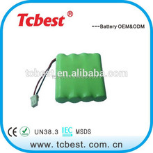 OEM for ni-mh rechargeable battery aa 4.8v 1200mah