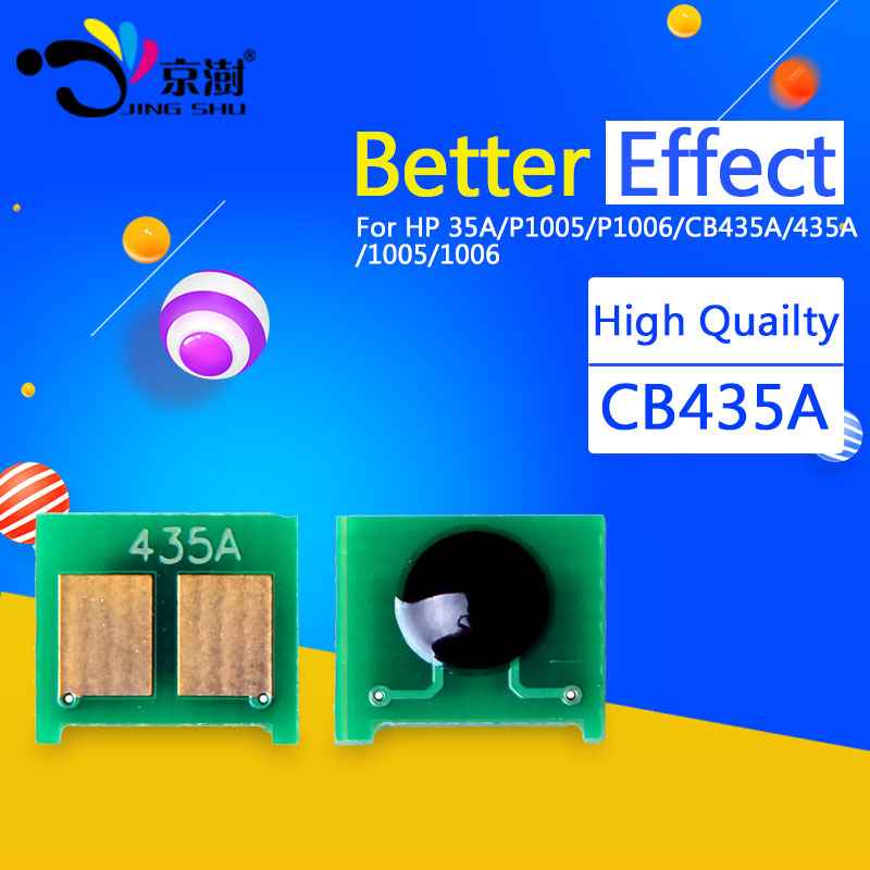 toner chips CB435A resetter for hp laserjet printer CB435A 435A 35A for HP LaserJet P1005 P1006 1005 1006