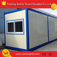Hot sale factory supply color steel laminboard foldable container for shop, warehouse, sentry box, guard house, etc