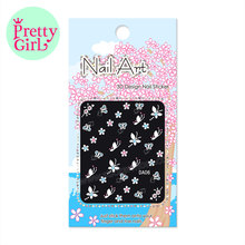 Manicure Beautiful Fashion Accessories 3D Mix Color Floral Design Nail Art Stickers DecalsDA01