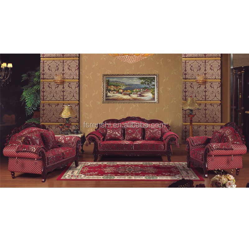 Cheap antique furniture living room indian style sofa for Buying living room furniture