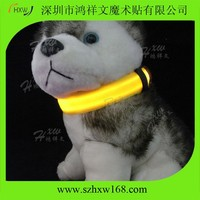 Colourful LED night lighting dog pet collar