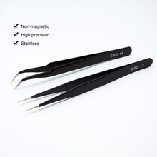Private label black straight and curl stainless lash extension tweezers false eyelash pincet for eyelashes