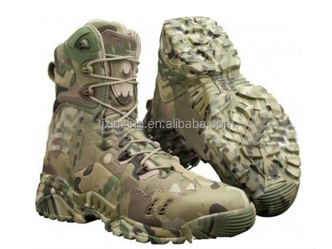 Camouflage woodland Waterproof Combat Military Boot