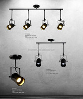 Home/Bar Decoration Retro Rustic Style Wrought Iron Industrial Vintage Pendant Light With Metal Cover