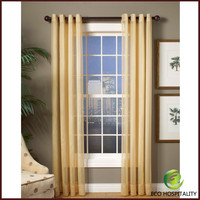 Blackout Fireproof Stripe Pattern Curtain Sheer