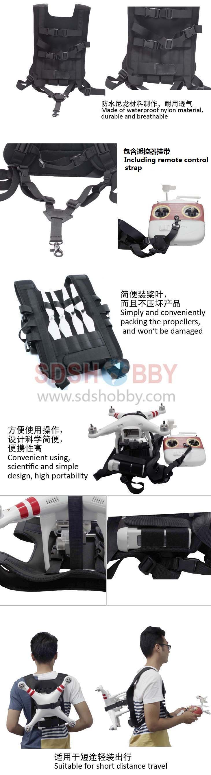 Shoulder Strap Harness Portable Backpack for Travelling/ Adventure / Athletics for DJI Phantom 2/ 3/ 4 pro+