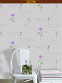 fashion tv background hot sell colorful flower with words pvc embossed wallpaper for home decoration wall paper