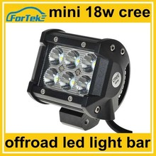12-24V 4 inch 18w cree led light bar off road with adjustable bracket mount