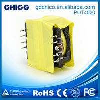 POT4020 high saturation current transformer for tv