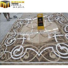 Fine dark emperador floor medallion design