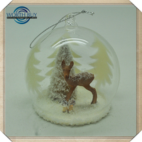 High Quality Wholesale Clear Glass Christmas Ball Ornaments