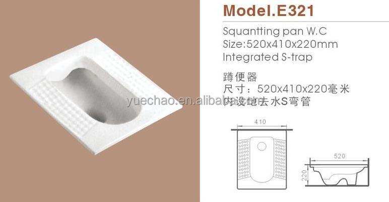 sanitary ware,E321 squatting w.c. pan,ceramic