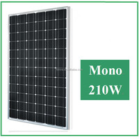 High efficiency and Good Quality 210W mono Solar Panel for home use, with A grade solar cells