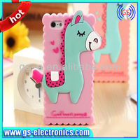2014 new arrival Lovely Cute Animal Horse 3D Silicon Phone Case for iPhone 4 5