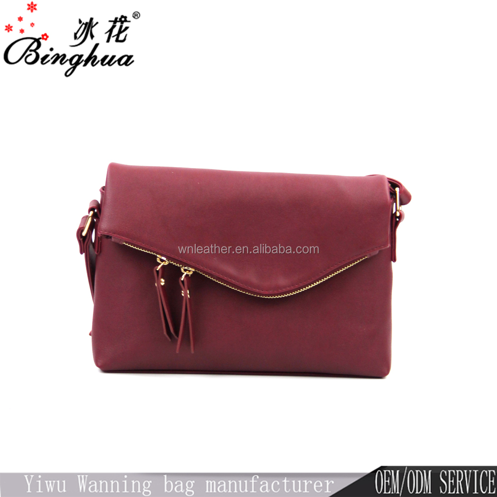 Hot selling young women single bag magnetic snap shoulder bag stylish trends cross body bag