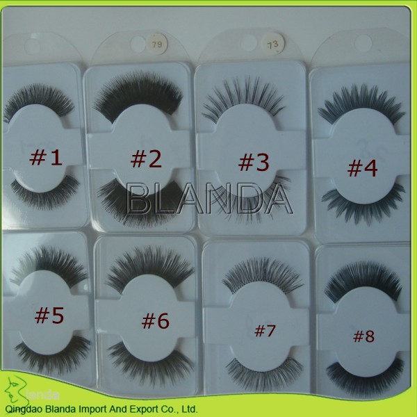 Hot sale human hair eyelash with own label pack box
