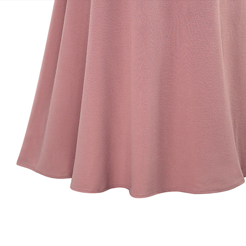 Trending Pink Elegant Maxi Skirt with Belt