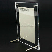 "8"" Acrylic Plexiglass Photo Frame, Desktop, 240mm x 190mm, Transparent Clear picture frame floor stand"