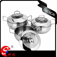Europe kitchen accessories stainless steel aluminium cooking pots set with high quality