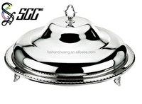 Stainless Steel Cover And Plate / Buffet Server / Buffet Food Plate with cover