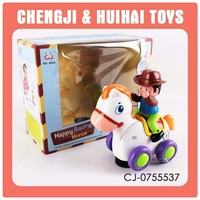 2014 New cartoon battery operated plastic toy race horse