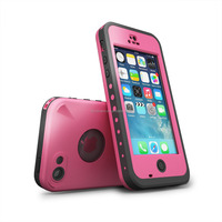 Waterproof case For Iphone 5C Shockproof Dirt Snow Proof Durable Case Cover Pink