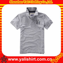 Hot sale comfortable grey short sleeve cotton print casual dri fit golf shirts deal men s clothing