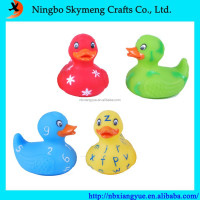 9.5cm ECO friendly PVC colorful bath duck toys