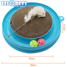 2017 pet products hot selling cat scratcher toy in round
