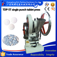 Hot Selling cheap tablet press single station tablet press TDP-5 Single Punch tablet Press with 1 set free round die