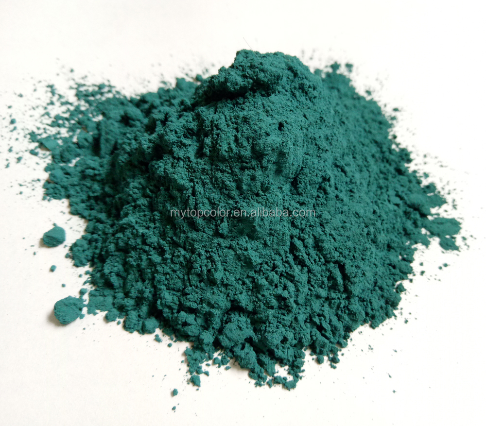 peacock green colour powder for ceramic