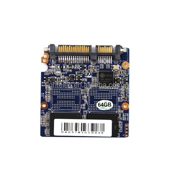 Golden Memory/OEM MLC NAND Flash JMF608 MSATA ssd 64gb