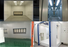 multi-size air compressor powder coating booth