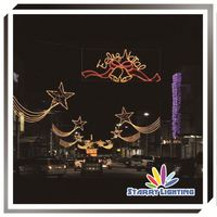 Outdoor music city hanging 2D led cross street motif light street skylines