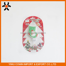 2016 hot sale Christmas sock with a snow man candle for Christmas day decoration