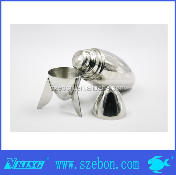 Stainless steel bullet shape football cocktail shaker