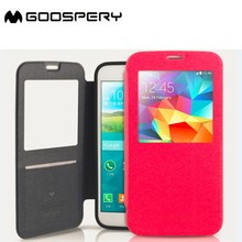 GC Mercury bumper case PU leather flip cover case