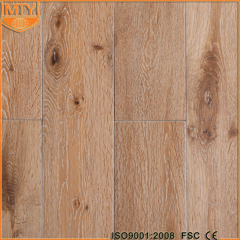 S-9 Hot Selling UV Lacquered Lime Wash Oak Flooring