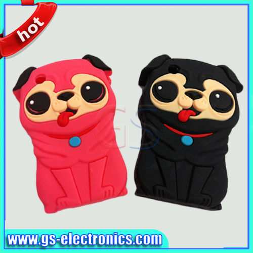 3D cute silicone dog case for iphone5