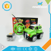 alibaba new sale children truck toy cute cartoon mini rc car engine with lights