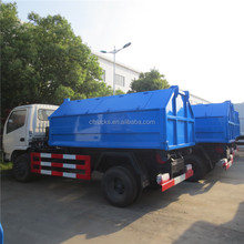 Bottom price China manufacturer dongfeng 3 ton skip loader refuse truck