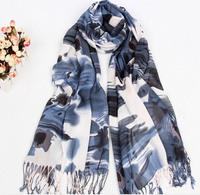 Lady Long Plain Color Cotton Scarves Fashion